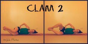 Clam 2: butt, particularly gluteus medius