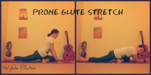 PRONE GLUTE STRETCH: butt