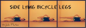 Side Lying Bicycle Legs: glutes